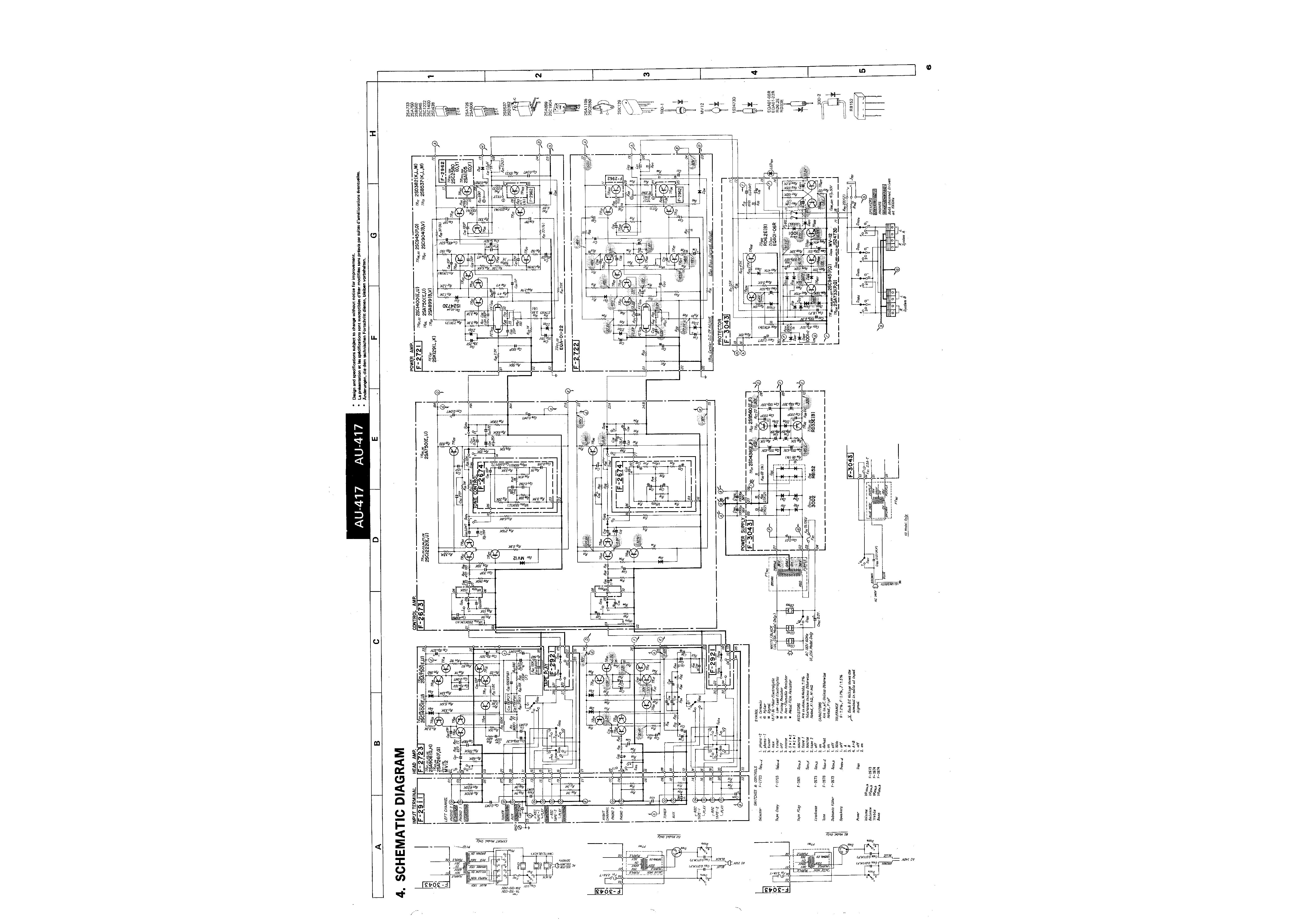 service manual for sansui au-417
