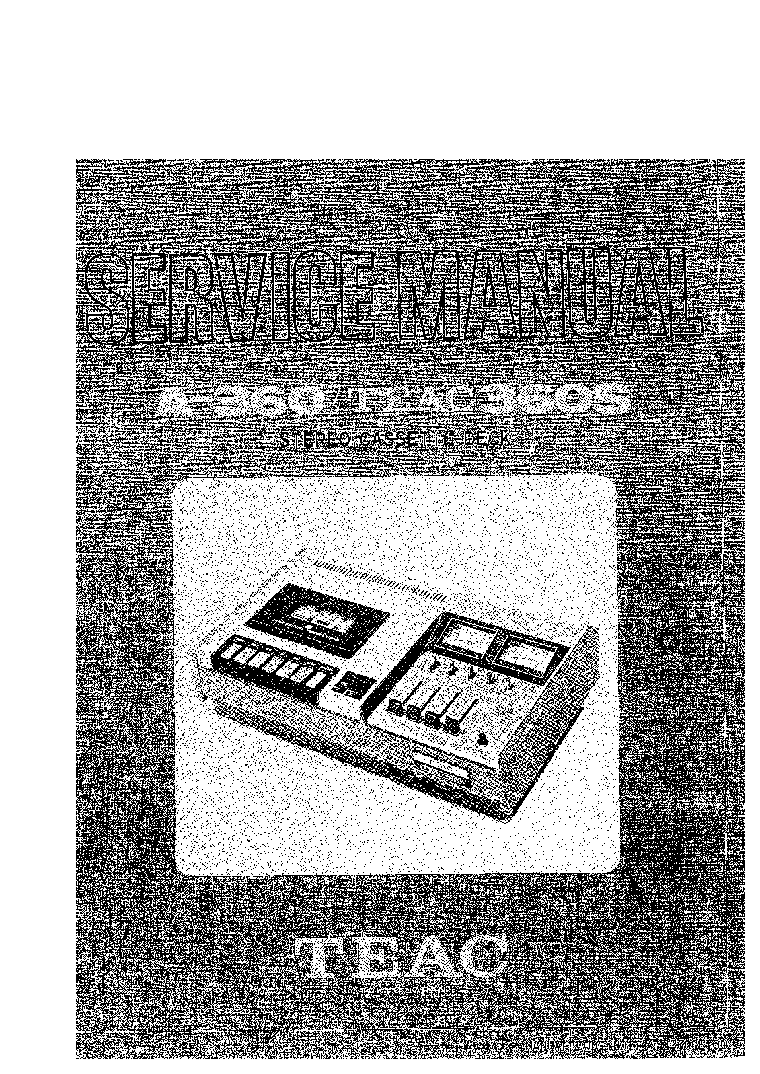 Service Manual for TEAC A-360S - Download