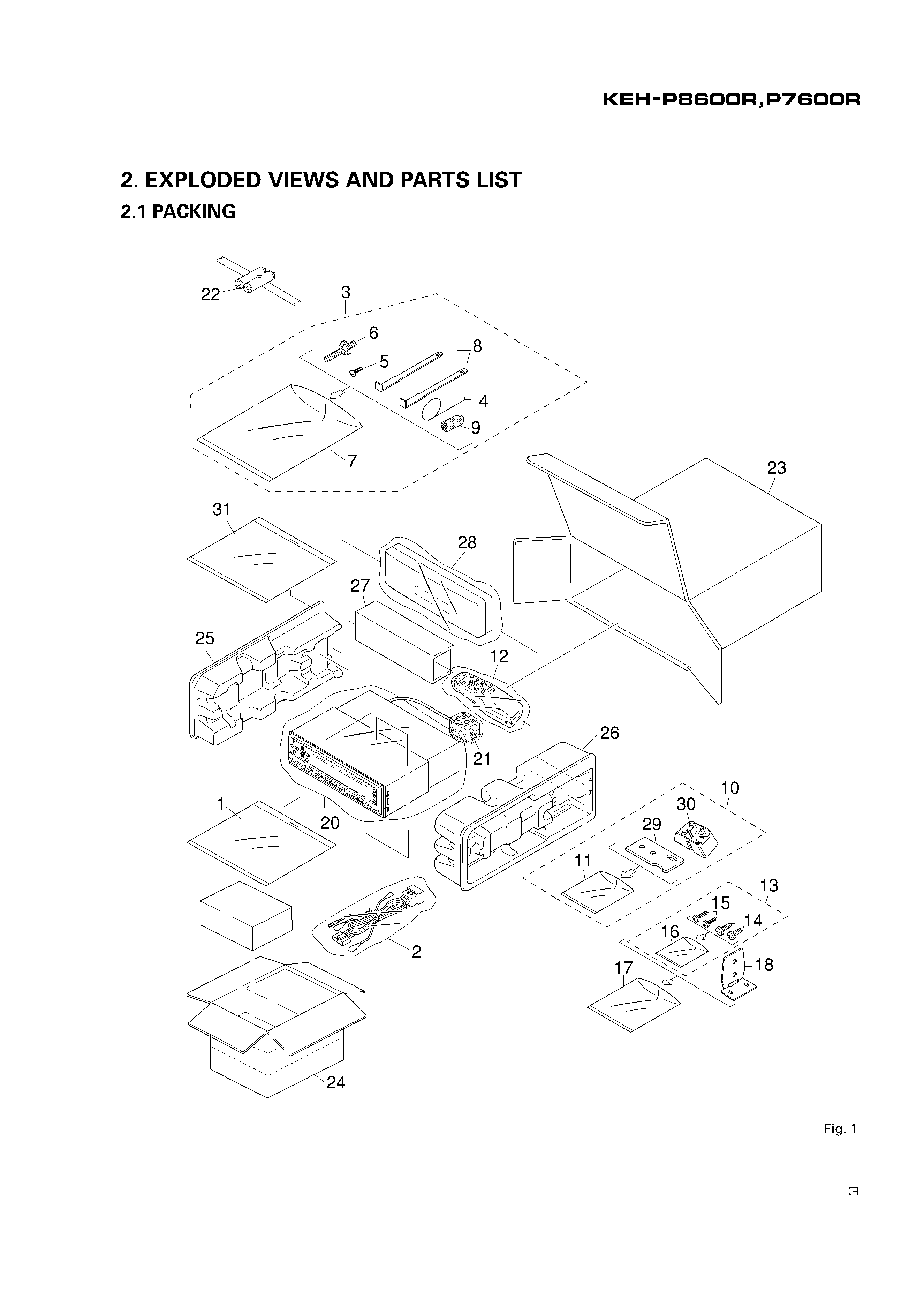 Service Manual For Pioneer Keh-p8600r Ew