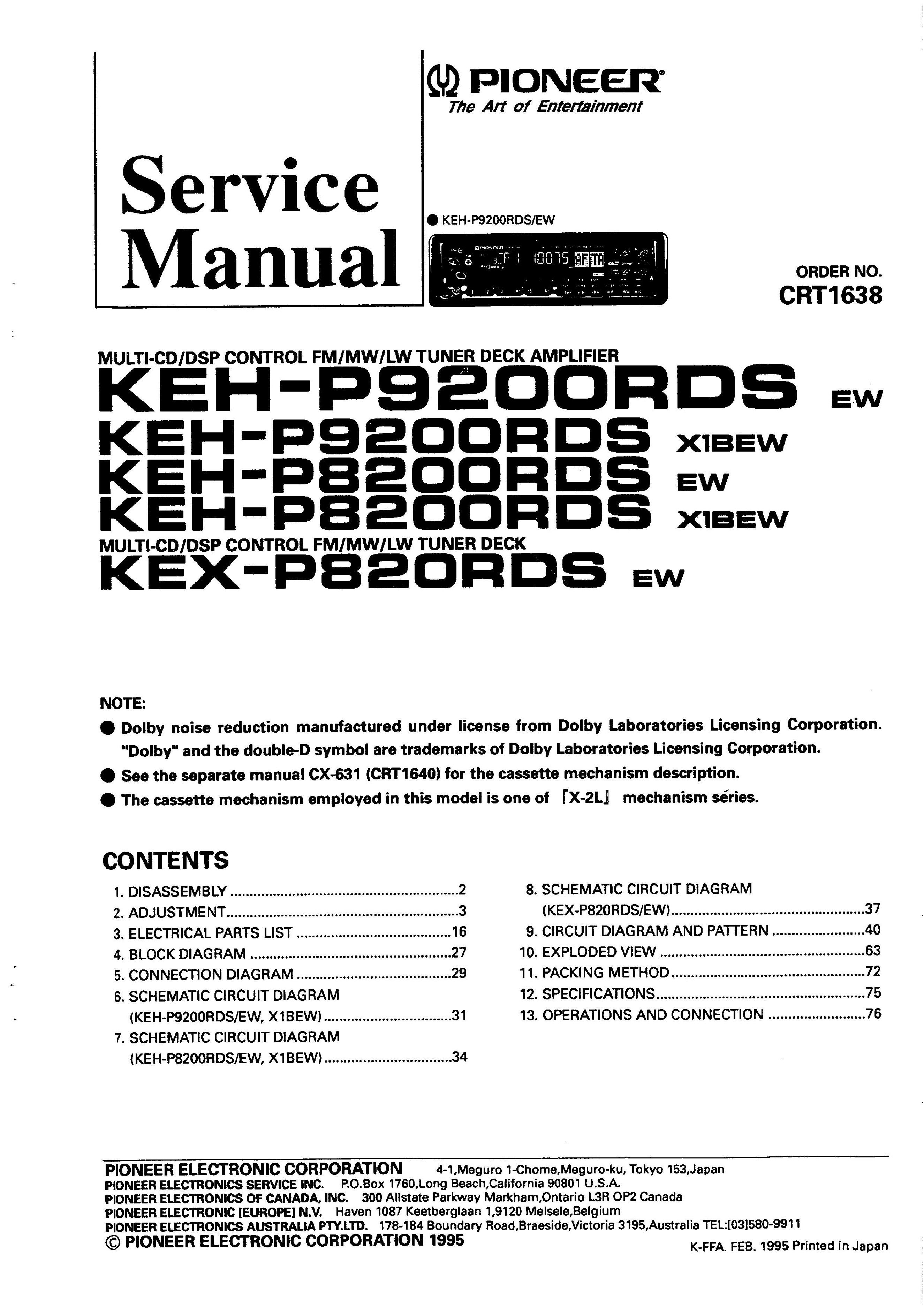 pioneer djm 600 service manual