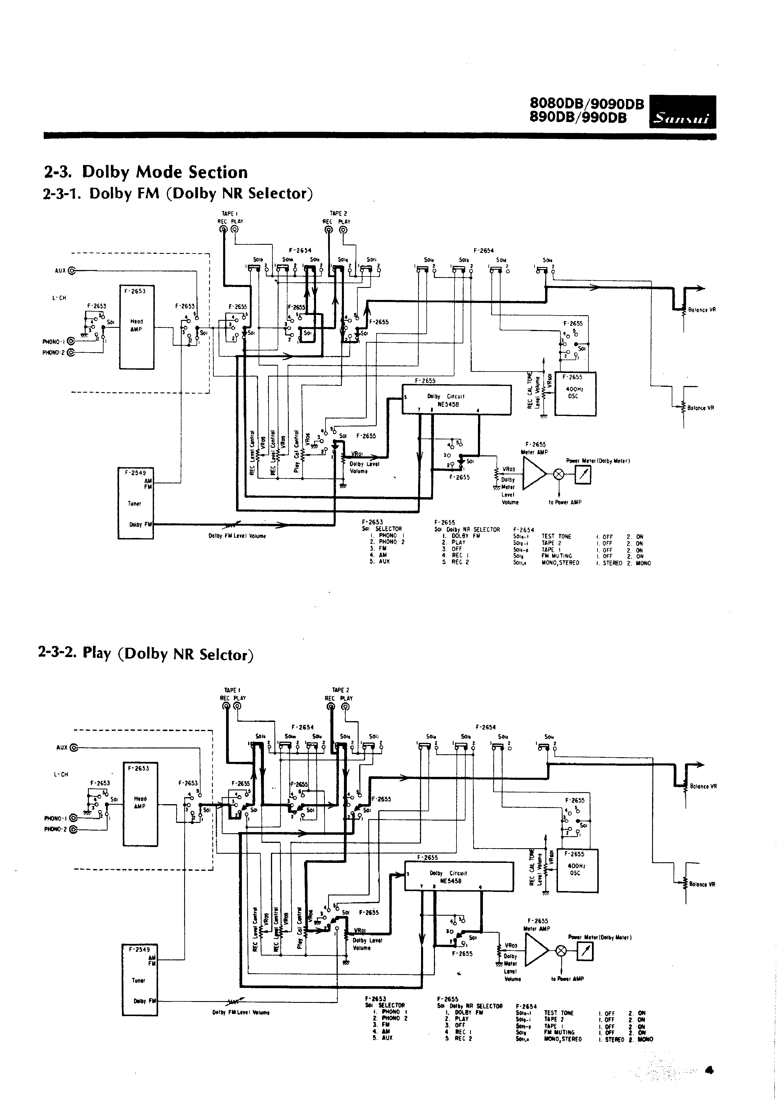 service manual for sansui 9090db
