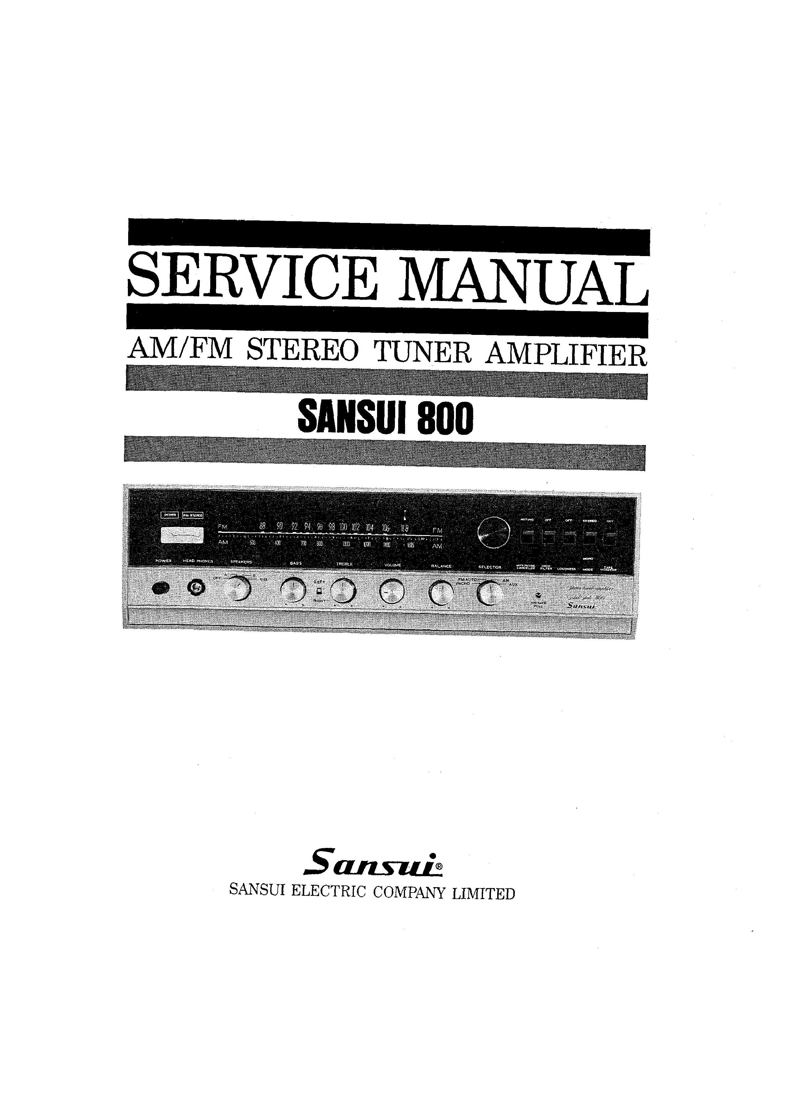 service manual for sansui 800