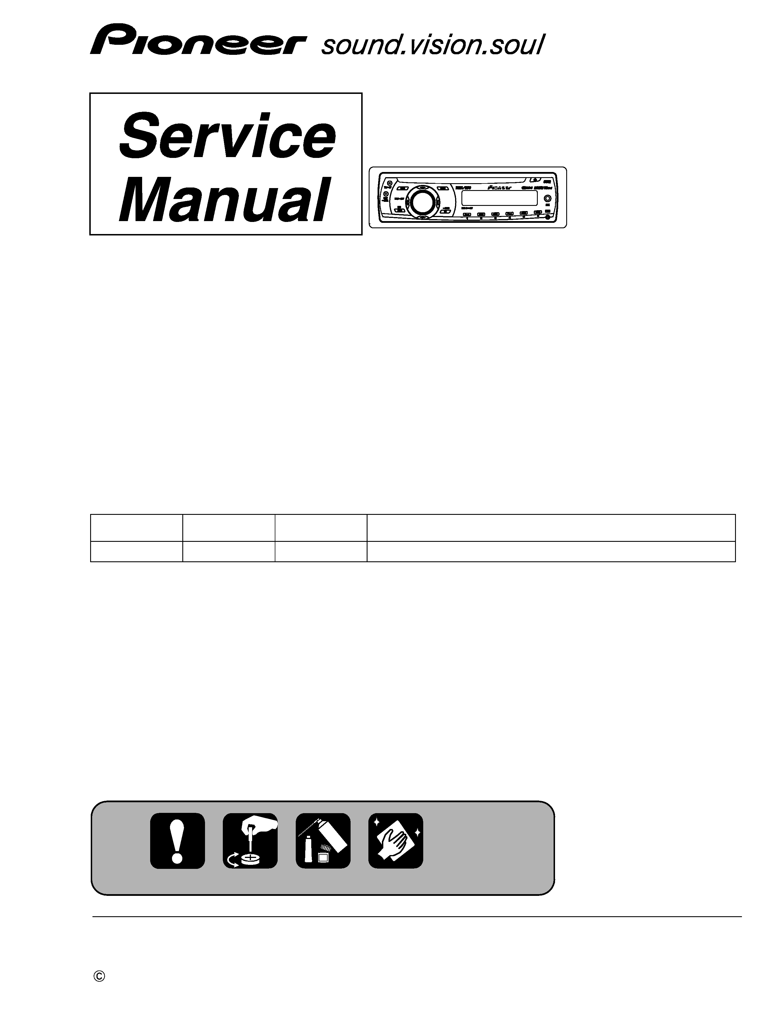 Service Manual For Pioneer Deh-2000mp  Xs  Uc
