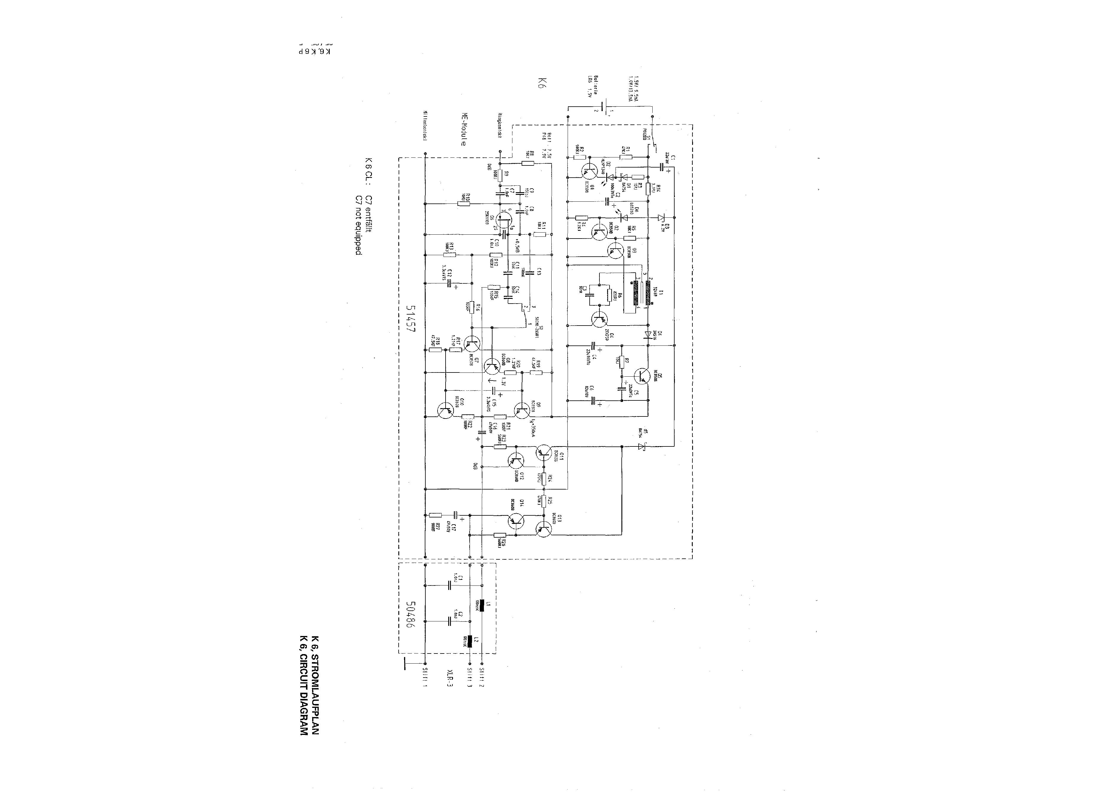 Service Manual For Sennheiser K 6
