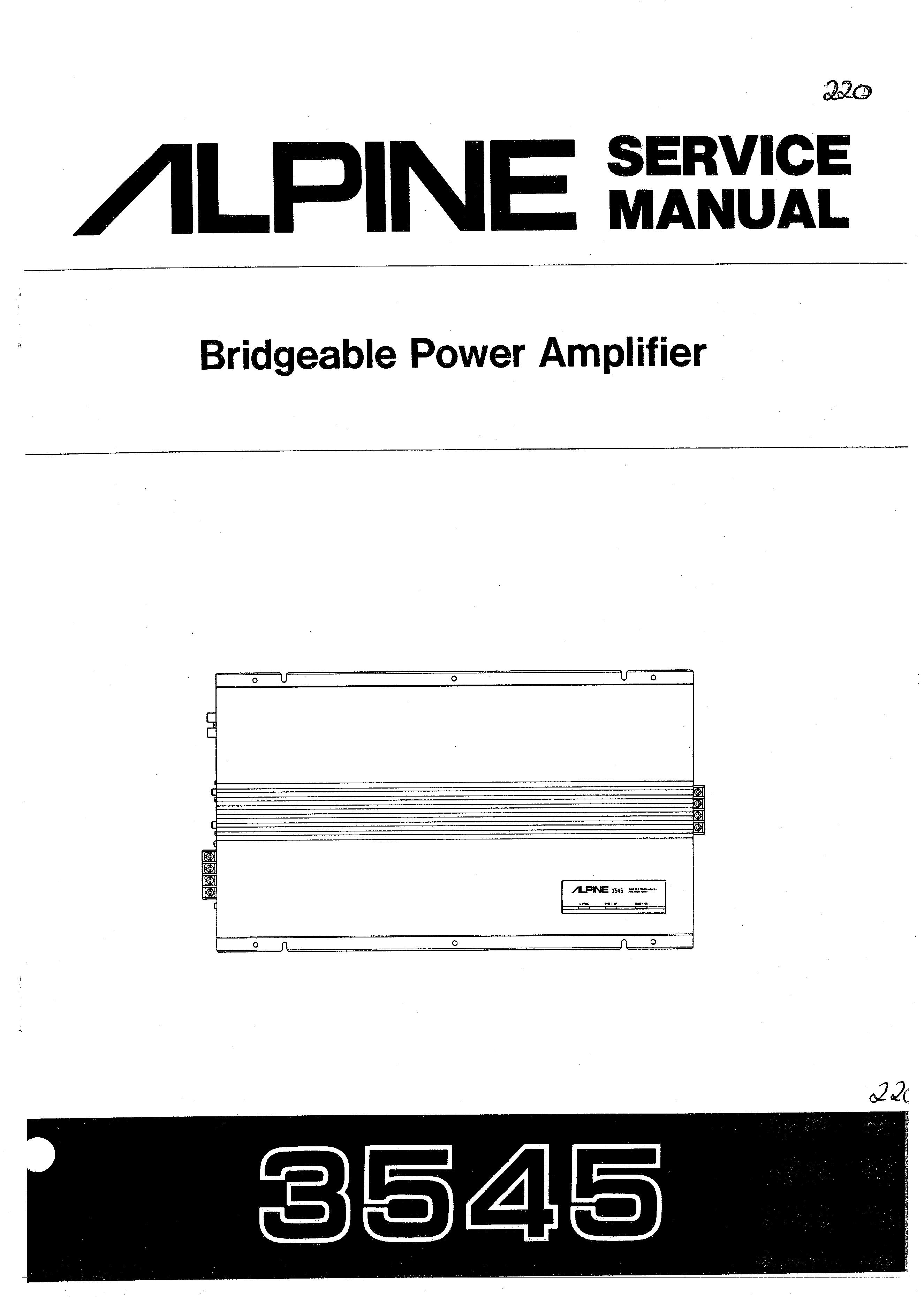alpine 3552 manual