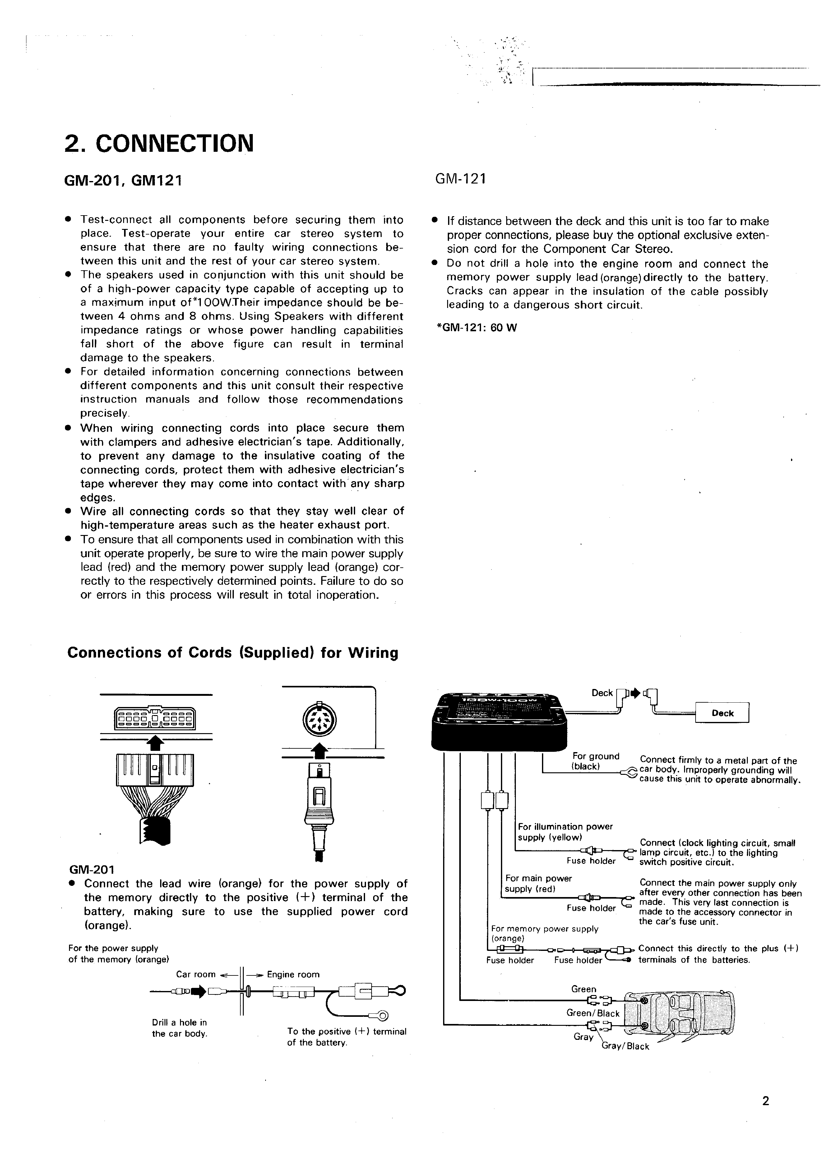 Service Manual For Pioneer Gm201