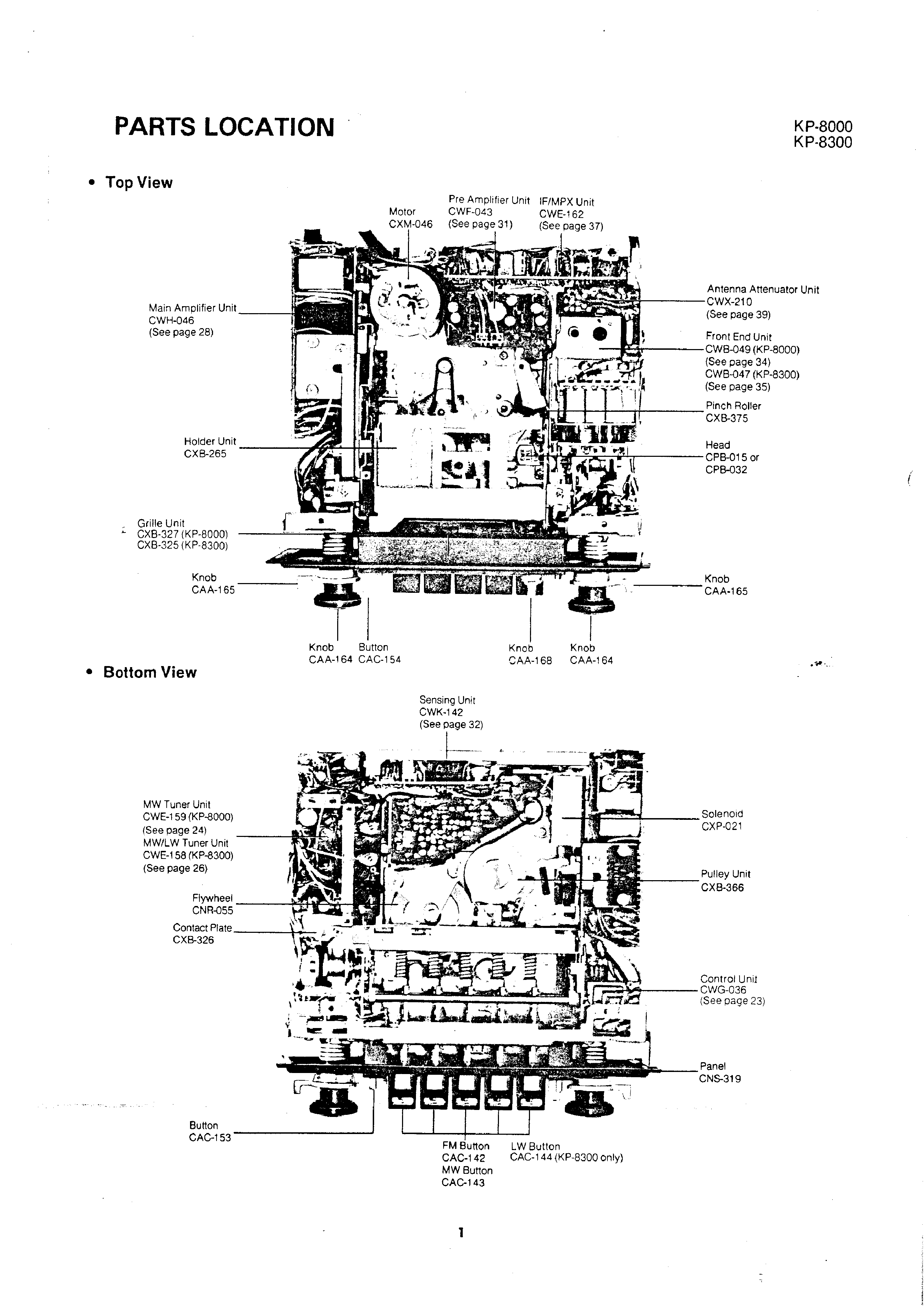 service manual for pioneer kp8000