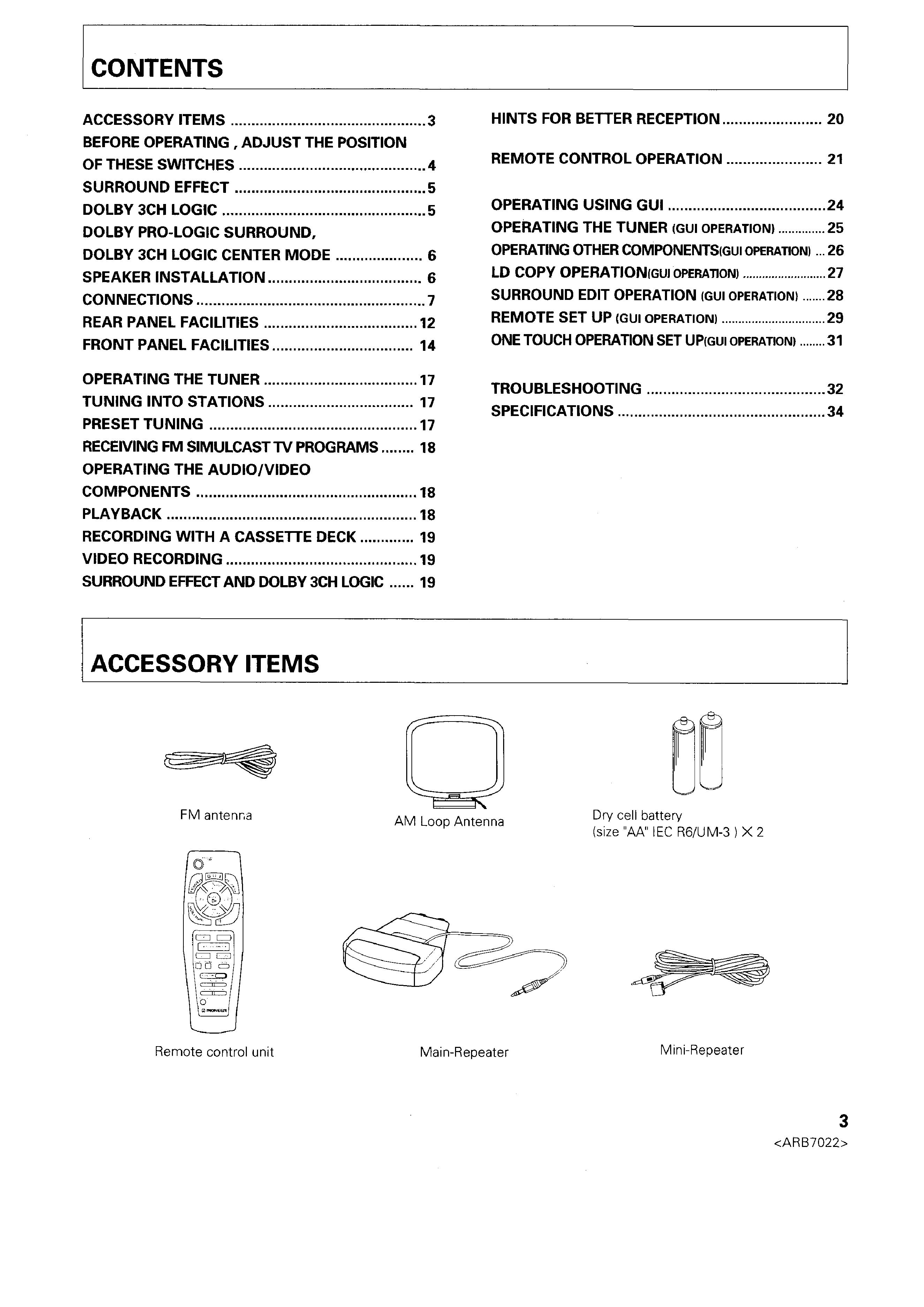 pioneer vsx 531 user manual english